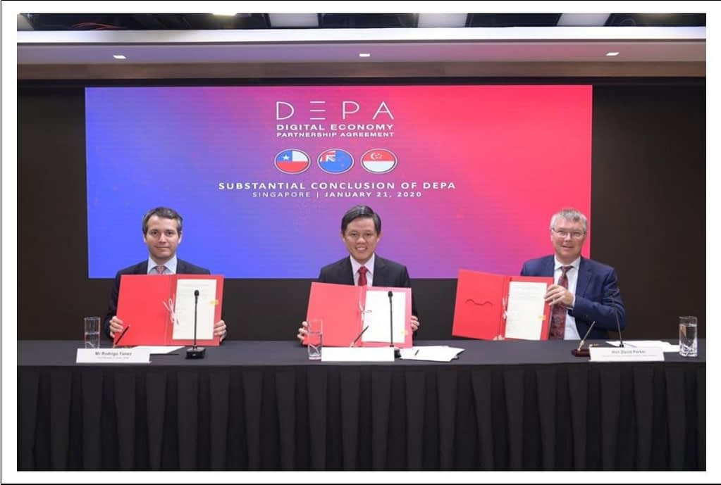 Singapore Digital Economy Partnership Agreement Wth Chile and New Zealand