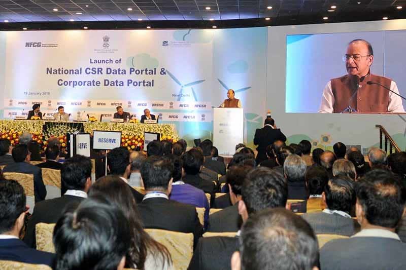 National CSR Data Portal and Corporate Data Portal launched by India's Ministry of Corporate Affairs