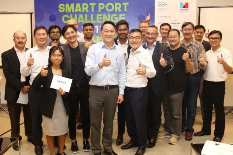 Start-ups pitch digital solutions for the Maritime and Port Authority of Singapore's Smart Port Challenge 2017