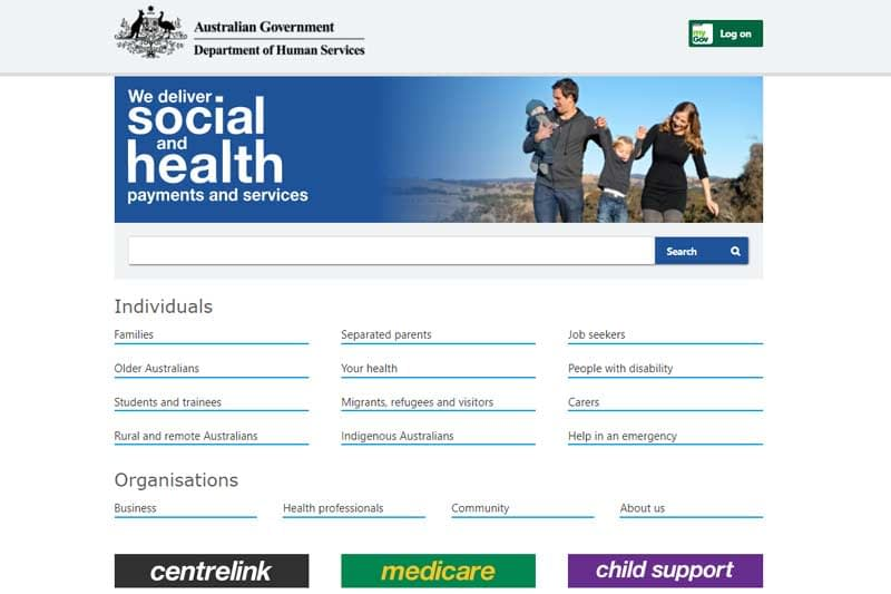 Australian Department of Human Services launches new look website for easier access to Centrelink