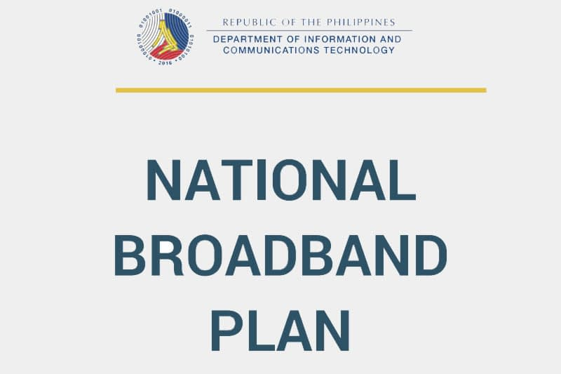 DICT Philippines releases National Broadband Plan with three strategies around policy