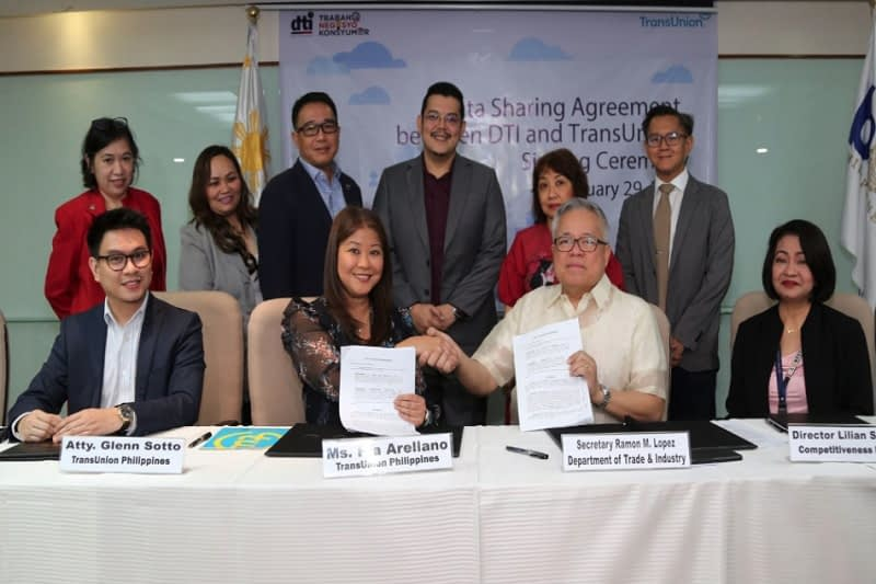 Department of Trade and Industry (DTI) and TransUnion Philippines Data Sharing Agreement