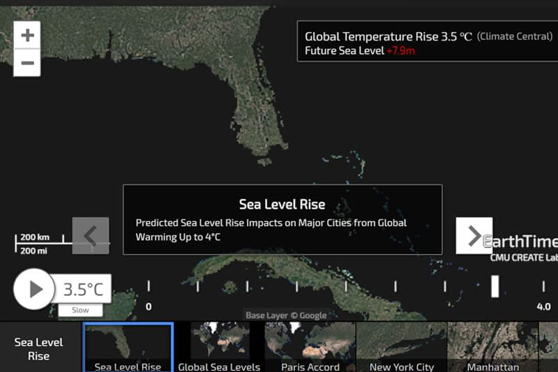 Animated data visualisations on new website show human impact on the planet