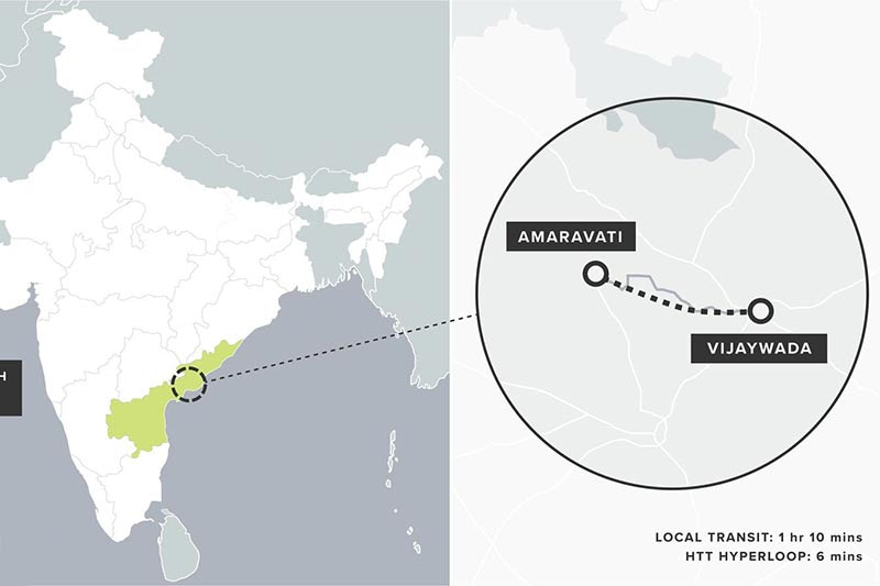 Indian state of Andhra Pradesh exploring hyperloop transportation technology for connecting two cities