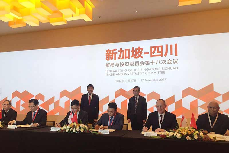 IE Singapore partners Sichuan government to help Singapore companies access technology