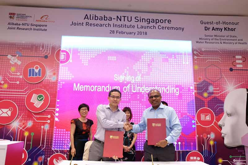 NTU Singapore partners with Alibaba to set up joint research institute for AI technologies