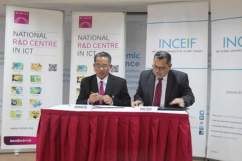 MIMOS and INCIEF sign MOU for collaboration in the area of Islamic Fintech