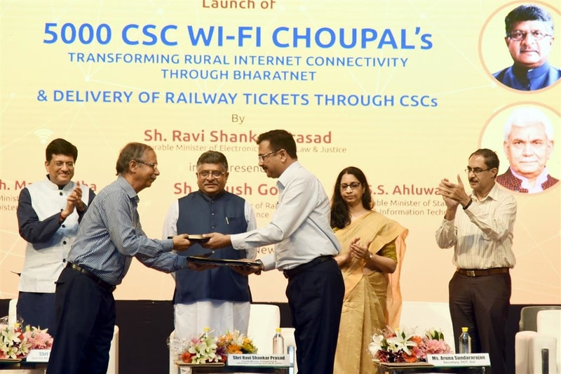 India to provide more digital services in villages through Common Service Centres and Wi-Fi hubs